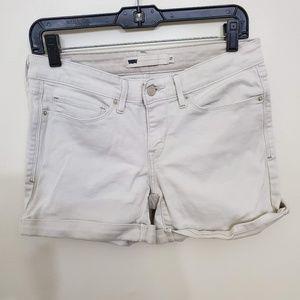 Off White Mid Rise Levi Jean Shorts